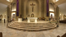 St. Paul Church (Nampa, ID). Sanctuary panorama. Photo provided by parish.