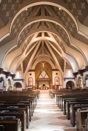 Holy Trinity Church (Gainesville, VA). The church's architecture reflects the Holy Trinity. Photo provided by parishioner Geraldine Erikson.