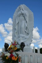 Custom carrara statue of OLG by Nilda Comas —Our Lady of Guadalupe Parish (Doral, FL). Photo from artist's website.