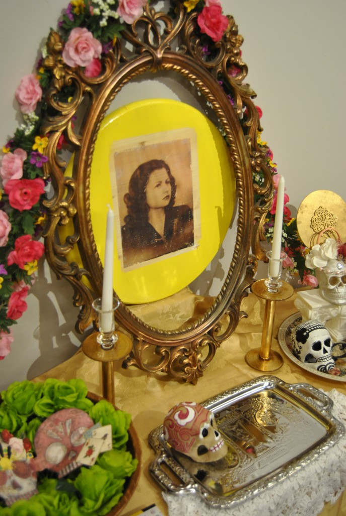 Selina White's Day of the Dead altar is a tribute to her grandmother. Photo: Miguel Perez