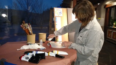EBLAR Artist at work in Studio