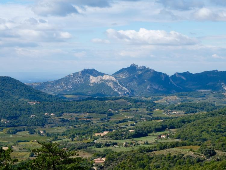 Overview of the Dentelles