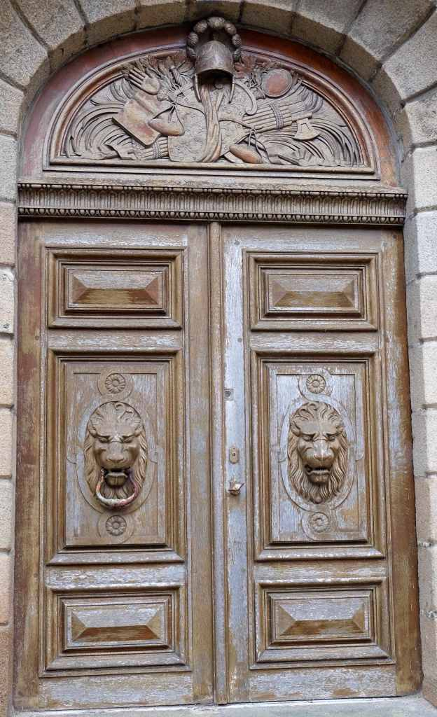 Lion doors of St Malo