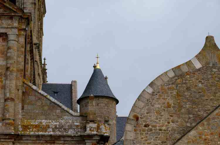 Roof tops Mont St Michel