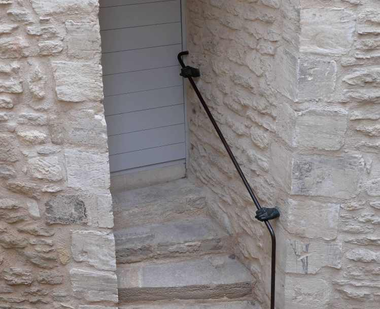 A literal hand rail in Gordes