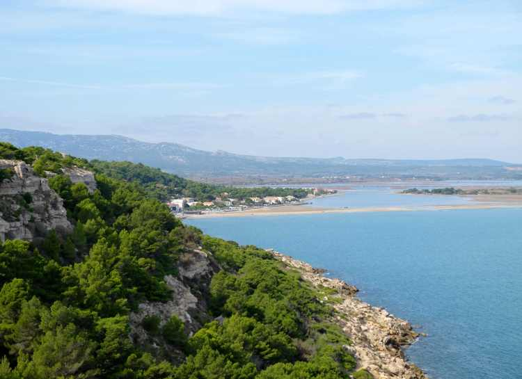 Coastal view, La Franqui in distance