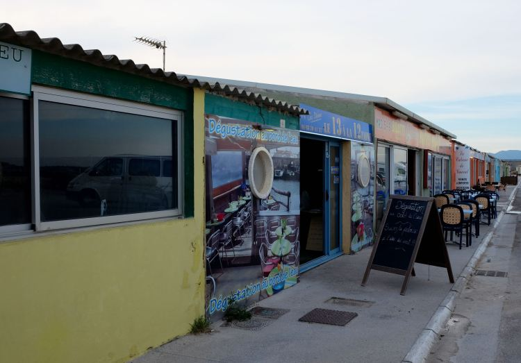 Oyster shacks of Leucate Plage