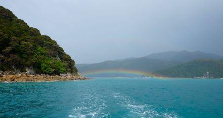 Rainbows in Abel Tasman