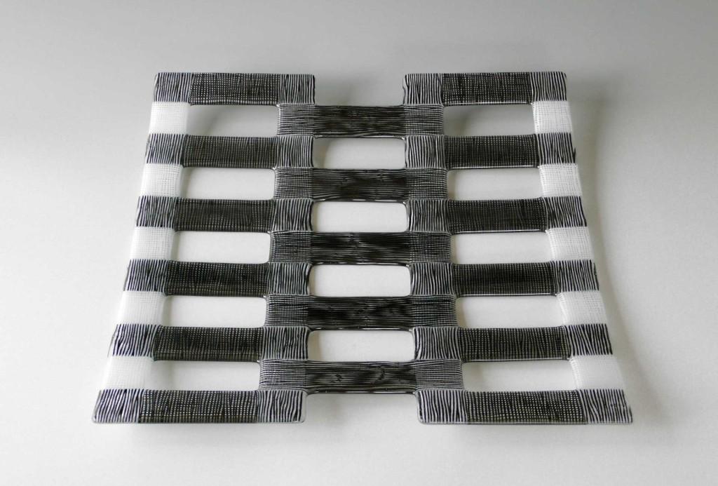 Bowl object, 2011. Glass, enamel, 4 × 43 × 44 cm.