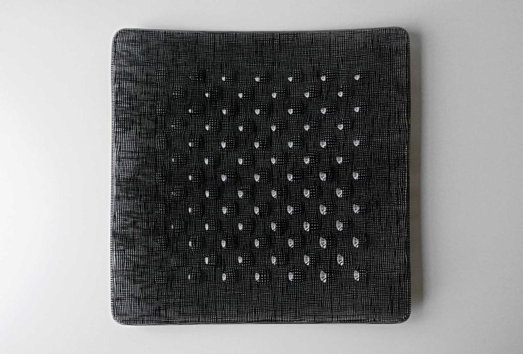 Bowl, 2011. Glass, enamel, 4 × 43 × 44 cm.