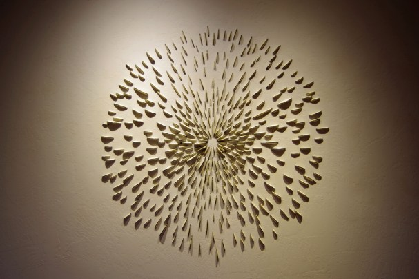 This installation was inspired by the forms of shelf fungi and the patterns of spore prints. It was a part of a solo exhibition at the Grants Pass Museum of Art titled 'where art & nature meet'.