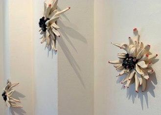 ceramic, slip, stain, glaze, whiskers, size varies, 2008
