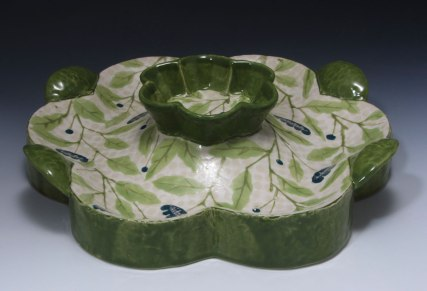 "slab and coil built, cone 6 porcelain, 12"" x 4"" x 12"", 2011"