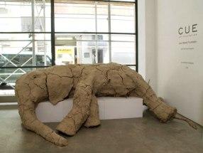 New York Elephant, clay, wood, 5'x11'x 6', 2008