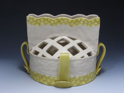 "slab and coil built, cone 6 porcelain, 8"" x 7"" x 8"", 2013"