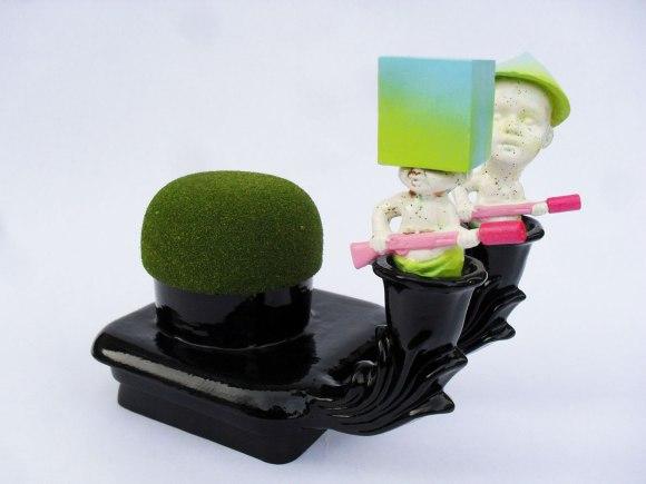 2012, 8 x 8.5 x 5.5, Ceramic and Mixed Media