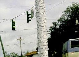 1' x 1' x 10', xeroxes on telephone poles, 1999-2003