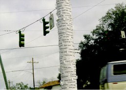 1' x 1' x 10', xeroxes on telephone poles, 1999-2003