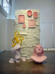 "Lair, 2012, 64"" x 56"" x 38"", ceramic and mixed media"