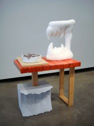 "Chomp, 2012, 48"" x 36"" x 20"", ceramic and mixed media"