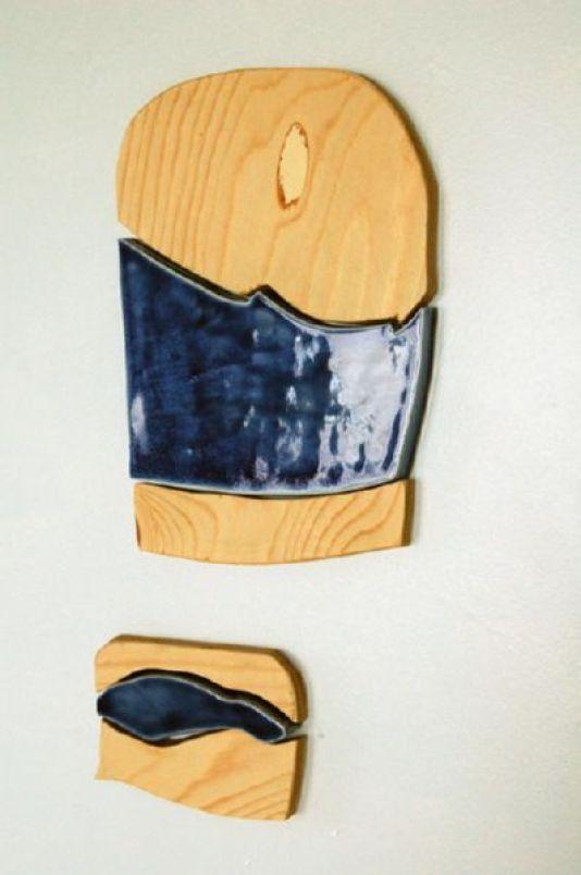 "ceramic, plywood, magnets, 16"" x 8"", 2010"