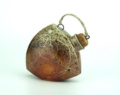 ^10 Wood-Salt Fired Stoneware, Slip, Glaze, Cork, Wire, Thread, 2017, Approx. 4x1.5x4 inches