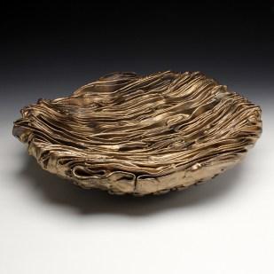 Stoneware, glaze, Cone 6 Oxidation, hand-built, 6h x 18w x 18d inches