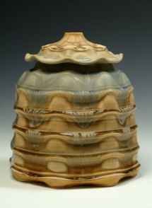 """Porcelain, wheel thrown and wet altered, Cone 10, oxidation fired, H: 12"""" x D: 10"""", 2009"""
