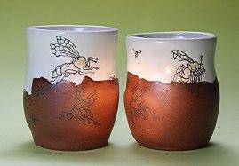 "Ann Ruel, ""Flying into the Light Mugs"""