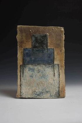 """9"""" X 2.5"""" X 13.5"""", woodfired, saltglazed stoneware, 2016"""