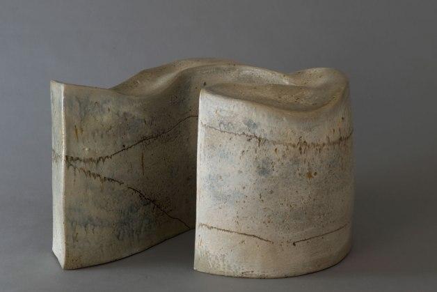 """11.5"""" X 18"""" X 14"""", woodfired saltglazed stoneware, 2014"""