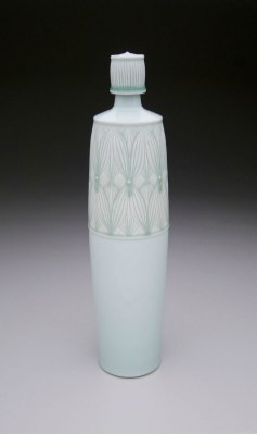 """Porcelain with carved pattern, 16H x 4W x 4D"""""""
