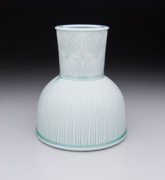 """Porcelain with carved pattern, 12H x 6.5W x 6.5D"""""""