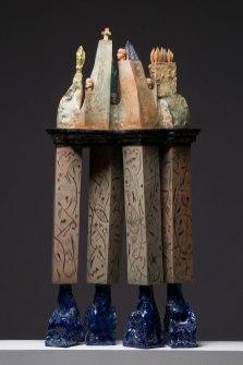 white clay, glaze, 1170C, 100x45x22cm, 1990