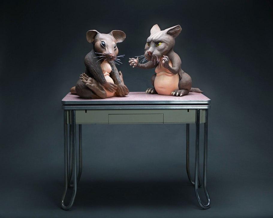 """Ceramics, found object, 28""""x24""""x60"""", 2014"""
