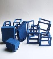 """Eugenia Bracony, """"Estructuras azules"""""""