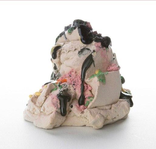 Stoneware, underglaze, glaze, 5 x 5.5 x 6.25 in