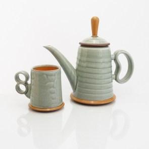 "Eric Van Eimeren, ""Tea pot and cup"""