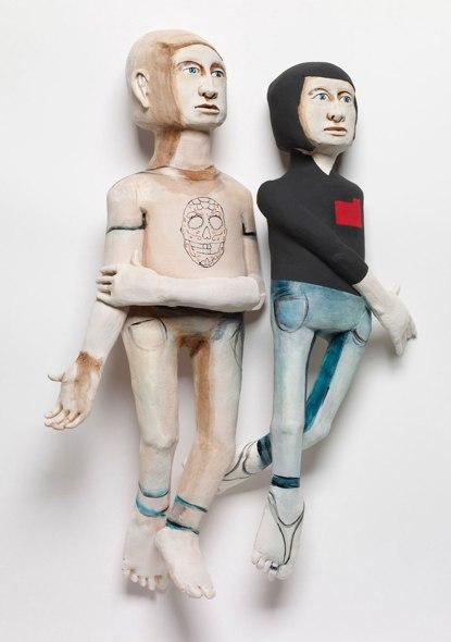 handbuilt earthenware sculptures