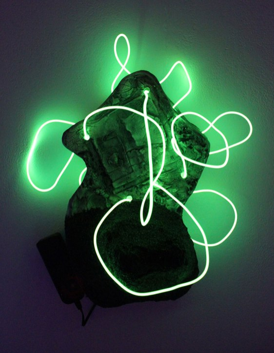 Ceramics, Silicone Carbide Sand, Battery Powered Neon Light Tubes, Digital Recording, Projector, and Kaleidoscopes, 2016