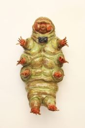 This is a wall-hanging piece modeled after a tardigrade.