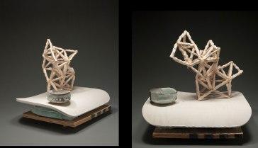 """Ceramics/mixed media, 14""""x16""""x15"""", 2012"""