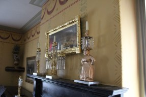 Terra cotta, antique crystals, marble, gilding. Installation at Wylie House Museum
