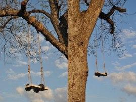 size depending on installation, porcelain, glaze, rope, tree, sky, 2013
