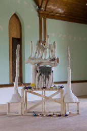 Ceramic, Latex paint, Unfired clay, Wood, 9'x7', 2014