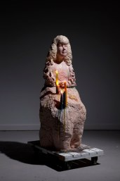 Ceramic, Candles, Glaze, Fire, Dollie, 4'x2', 2014