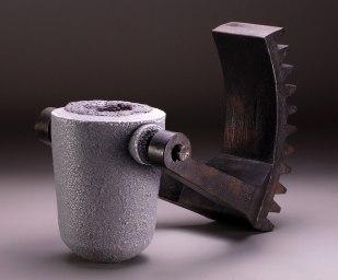 "Crucible Series, #20, H 18"" x W 25"" x d 18"", 2011, Soda Fired Stoneware"