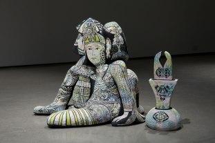 """2014, ceramic, underglaze, 50"""" x 39"""" x 30"""""""
