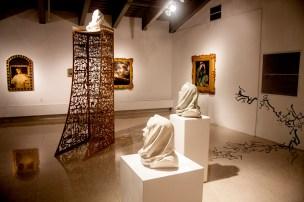 """Kiana Honarmand, """"Behind the Black, Brown and Gold"""" (installation shot)"""