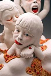 "2014, Porcelain, Under glaze, Glaze, Resin, 18""x18""24"""